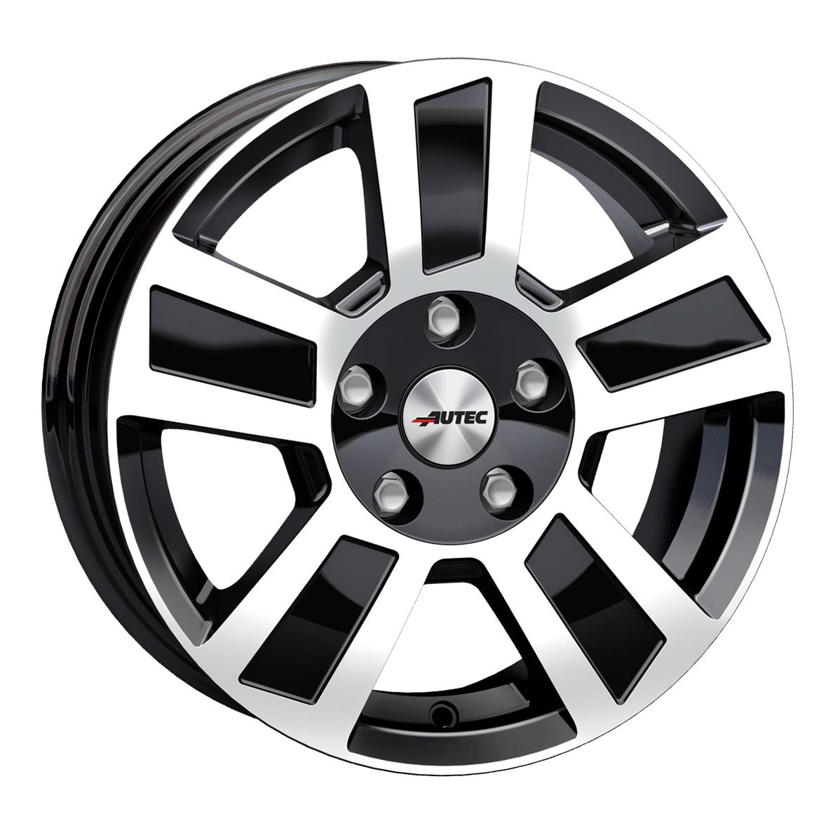 AUTEC Tigris hliníkové disky 6x14 4x100 ET30 Black Polished